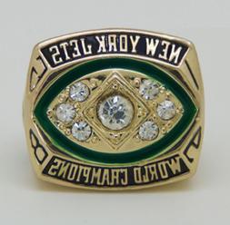 1968 NEW YORK JETS Super Bowl Championship Ring 18k Gold Pla