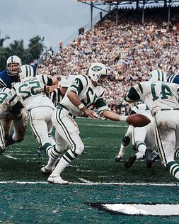 1969 New York Jets MATT SNELL & JOE NAMATH Super Bowl III 8x