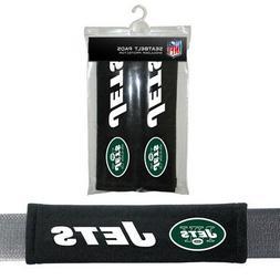 2PC NFL New York Jets Car Truck Bag Seat Belt Pads / Shoulde