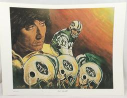 Joe Namath Jets MOMENT OF TRUTH by Angelo Marino Lithograph