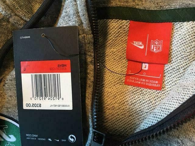 $105 New Jets Nike Team Full Zip