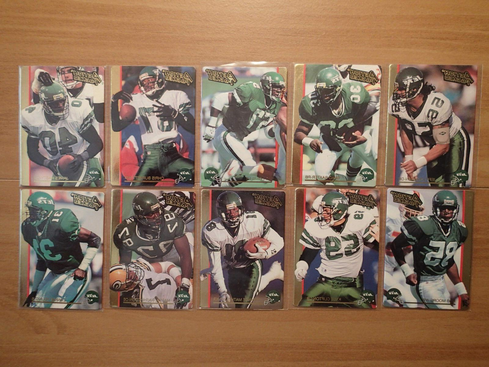 1992 action packed new york jets team