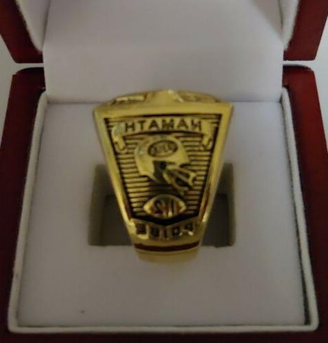 Joe Namath - 1968 New York Jets Custom Super Bowl Ring WITH Wooden