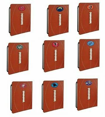 NFL Notebook Holder-Includes 8.5x11-Inch Pad