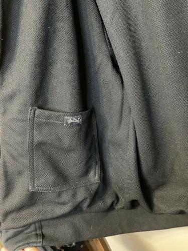 NWT York Black Hoodie full Jacket L