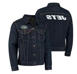 New York Jets Levi's Mens Sports Denim Trucker Jackets Blue