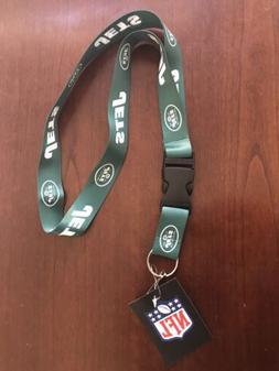 New Football New York Jets Lanyard ID Badge Holder Breakaway