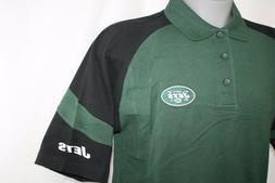 NEW Mens NFL Equipment Polo NY JETS Green Black Football Log