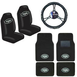 New NFL New York Jets Car Truck Seat Covers Floor Mats Steer