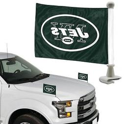 New York Jets 2-Pack Ambassador Style Auto Flag Car Banner S