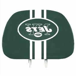 New York Jets 2-Pack Color Print Auto Car Truck Headrest Cov