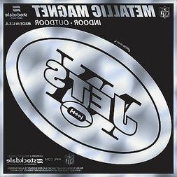 "New York Jets 6"" MAGNET Silver Metallic Style Vinyl Auto Hom"