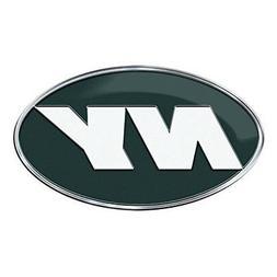 New York Jets CE4 Alternative Logo Color METAL Auto Emblem C