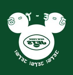 New York Jets Disney World Disneyland shirt Mickey Mouse vac