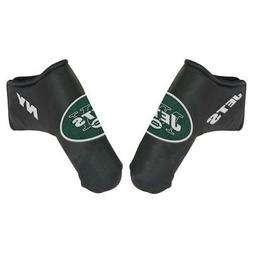 NEW YORK JETS EMBROIDERED LOGO BLACK BLADE PUTTER COVER NEW