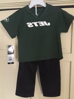 New York Jets Kids NFL Apparel Jersey/Pants Set Size 2T New