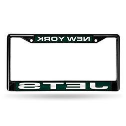 New York Jets Laser Black License Plate Frame