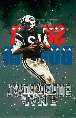 New York Jets Lithograph print of Joe Namath Super Bowl 3 MV