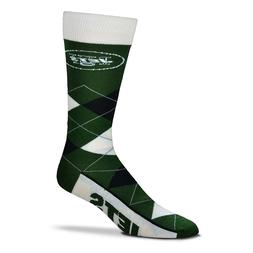 New York Jets NFL Argyle Lineup Socks One Size Fits Most Uni