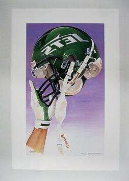"New York Jets NFL Football 20"" x 30"" Team Lithograph Print"