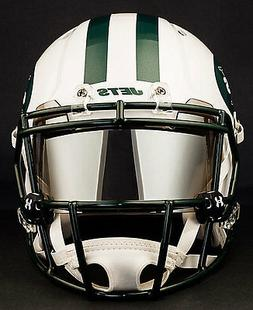 NEW YORK JETS NFL Football Helmet with CHROME MIRROR Visor /