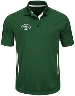 New York Jets NFL Mens Cool Base Performance Polo Shirt Gree
