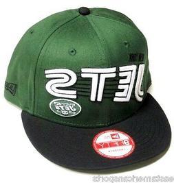 New York Jets NFL NEW ERA Green Swoop 9Fifty Hat Cap Flat Br