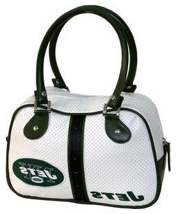 New York Jets NFL White Ethel Bowler Handbag Bag Purse Case