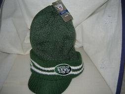 NEW YORK JETS ONFIELD VISOR BRIM STYLE WINTER KNITTED HAT CA