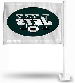 New York Jets Premium 2-sided Car Flag w/Pole Banner Auto Fo