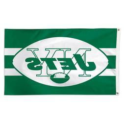 NEW YORK JETS RETRO VINTAGE LOGO 3'X5' DELUXE FLAG NEW WINCR