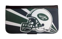 NEW YORK JETS SAMSUNG GALAXY & iPHONE CELL PHONE CASE LEATHE