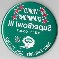 NEW YORK JETS SUPER BOWL III CHAMPIONS NFL FOOTBALL VINTAGE