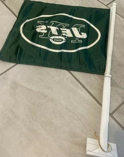 New York Jets TWO SIDED CAR FLAG * FREE SHIPPING *