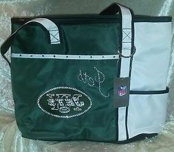 New York NY Jets NFL Tote Bag Rhinestone Bling Purse Hand Ba