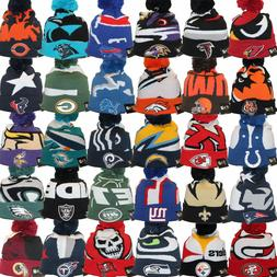 New Era NFL LOGO WHIZ 3 Sport Knit Pom Pull On Team Beanie H