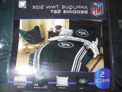 NFL NEW YORK JETS 5 Piece Twin Comforter Set