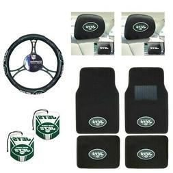 NFL New York Jets Car Truck Floor Mats Steering Wheel Cover