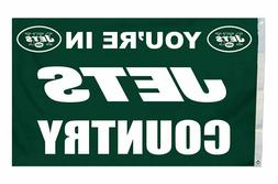 NFL New York Jets Country 3-by-5 Feet Flag with Grommetts