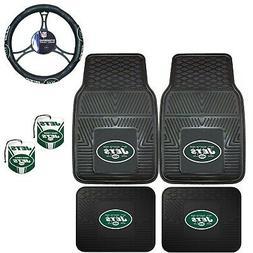 NFL New York Jets Floor Mats Steering Wheel Cover & Air Fres