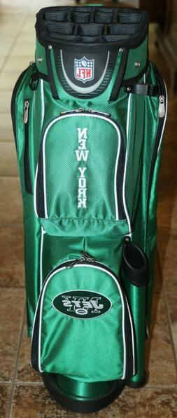 nfl new york jets golf bag cart