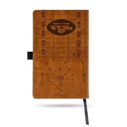 NFL New York Jets Laser Engraved Leather Notebook - Brown