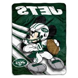 NFL New York Jets Mickey Mouse Ultra Plush Micro Super Soft