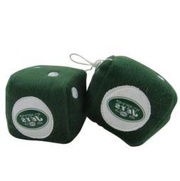 NFL New York Jets Plush Fuzzy Dice Auto Accessories