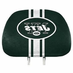 Pair of New York Jets Head Rest Covers Truck Car Auto Headre