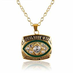 USA New York Jets 1968 Pendant Necklace Championship Ring In